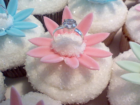 Diamond Bridal Shower Cupcakes