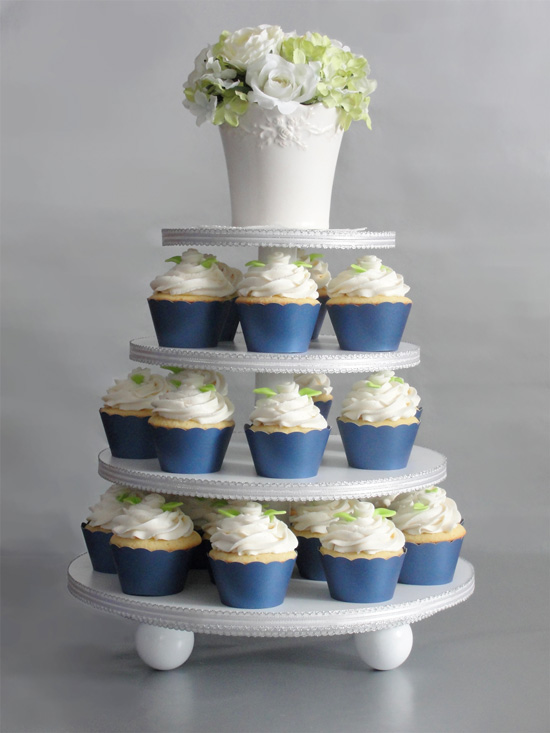 Bridal Cupcakes in Midnight Blue