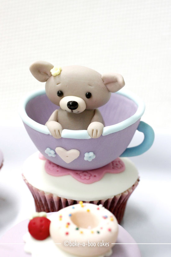 Puppy in a Teacup Cupcake