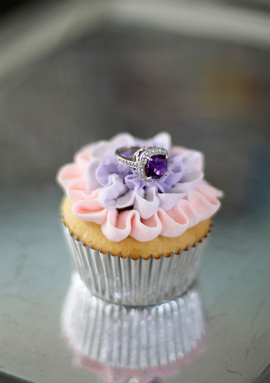 Sweet Engagement Cupcake