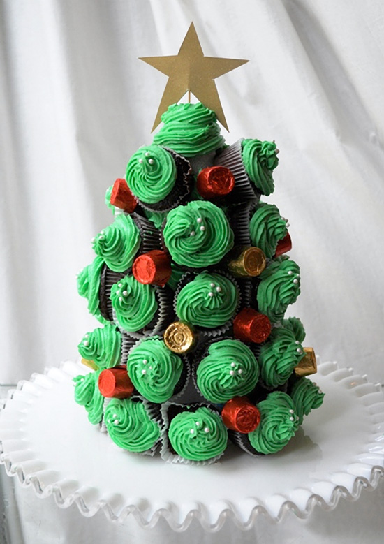 Cupcake Christmas Tree