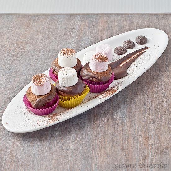 Chocolate Marshmallow Mini Cupcakes - Gluten Free