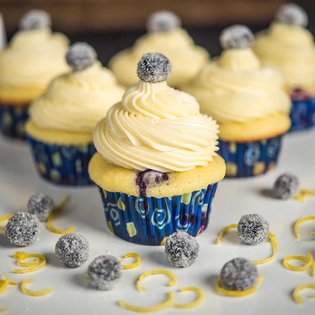 Blueberry Lemon Cupcakes with White Chocolate Icing Recipe