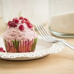 Red Velvet Cupcakes with Pomegranate Frosting