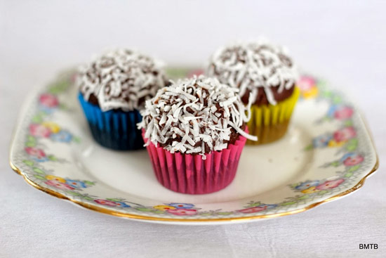 Mini Chocolate and Coconut Cupcakes