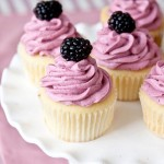 Lemon Cupcakes, Blackberry Buttercream, cupacke recipes, cupcakes daily blog, baking
