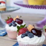 Fruit Salad Cupcakes, Sour Cream Frosting, cupcake, recipe, daily, blog, baking, cupcakedailyblog