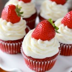 Strawberry Red Velvet, Cupcakes, recipe, daily, blog, baking, cupcakedailyblog