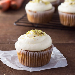 Carrot Cupcakes with Cream Cheese Mascarpone Frosting