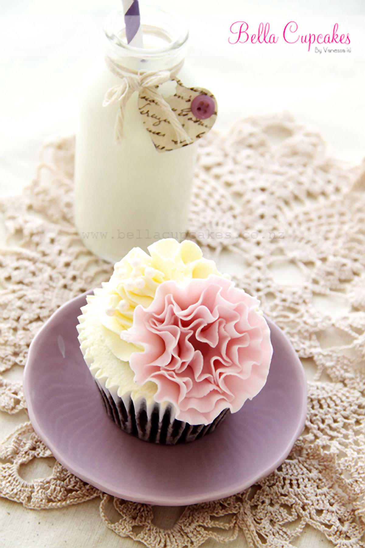 Ruffle Flower Cupcake Decoration