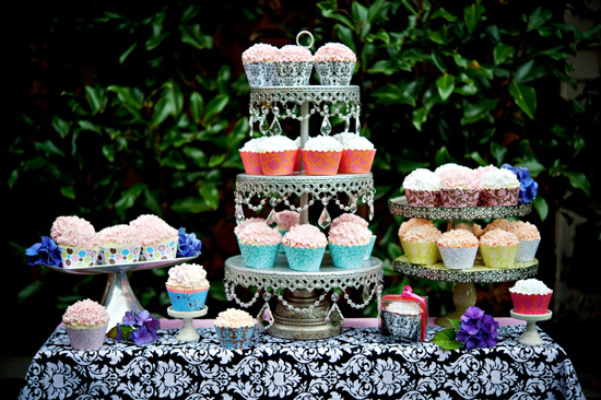 Textile Inspired Cupcake Wrappers