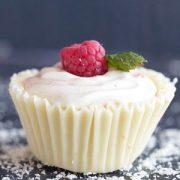 White Chocolate Raspberry Mousse Cupcakes