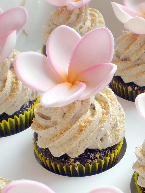Cupcakes - Beach Frangipani