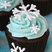Snowflake Chocolate Cupcakes