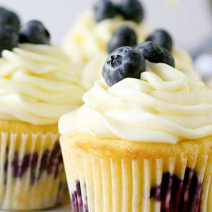 lemon, blueberry, cupcakes, recipe, baking, cream cheese, frosting