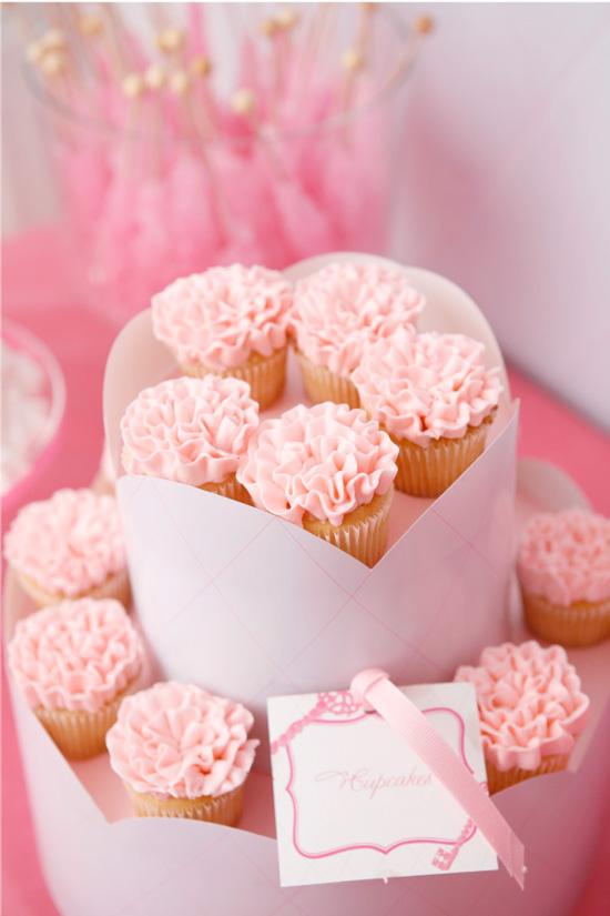 Pink Ruffles Cupcake