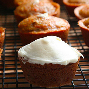 Filled Carrot Cake Cupcakes with Cream Cheese Frosting