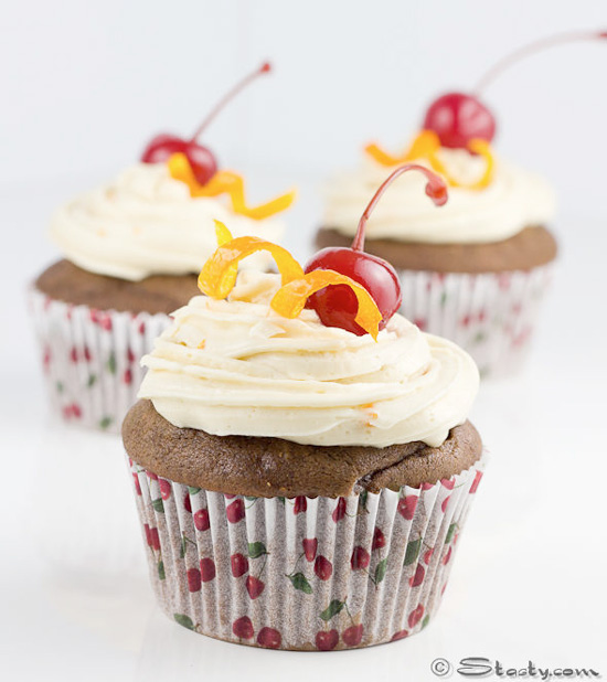 Chocolate Old Fashioned Cupcakes