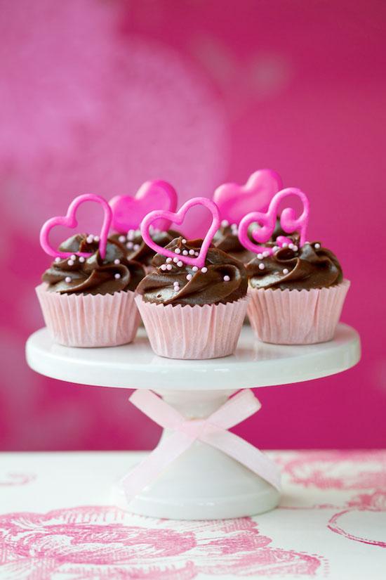 Valentine Raspberry Cupcakes
