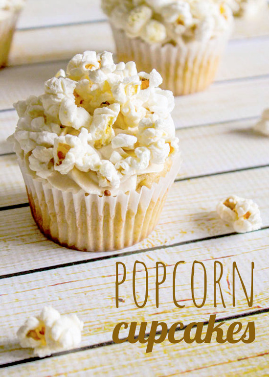 Popcorn Cupcakes with Caramel Buttercream
