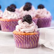 Blackberry Lemon Cupcakes Gluten Free