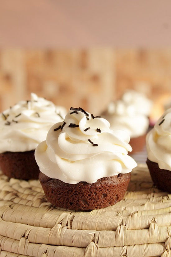 Dark Chocolate Cupcakes with Cream Cheese Icing