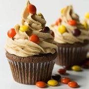 Double Reese's Cupcakes, chocolate cupcakes recipe