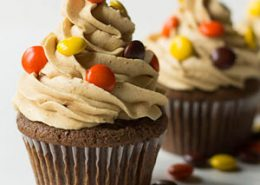 Double Reese's Cupcakes, chocolate cupcakes recipe
