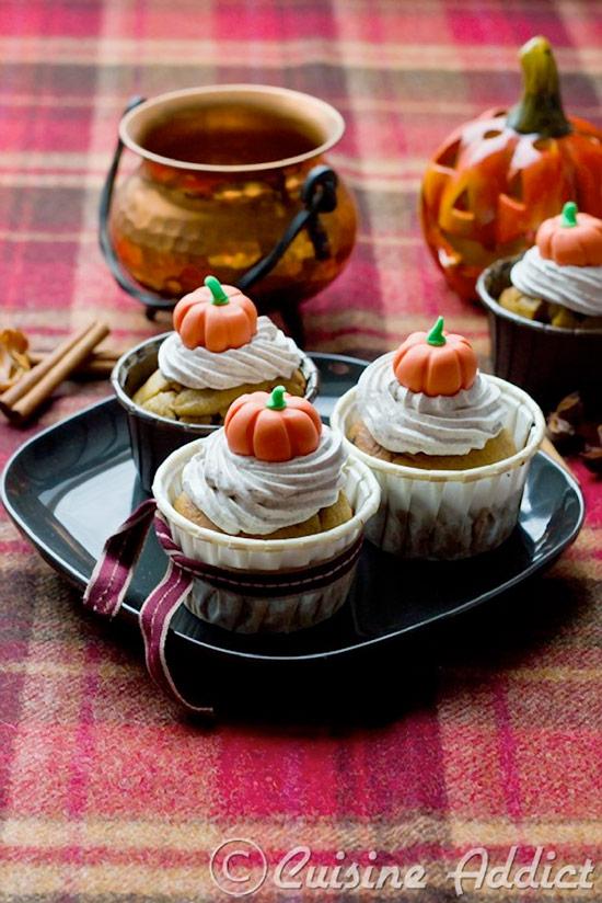 Pumpkin and Chocolate Chip Cupcakes Recipe