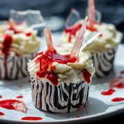 Dexter's Bloody Cupcakes for Halloween