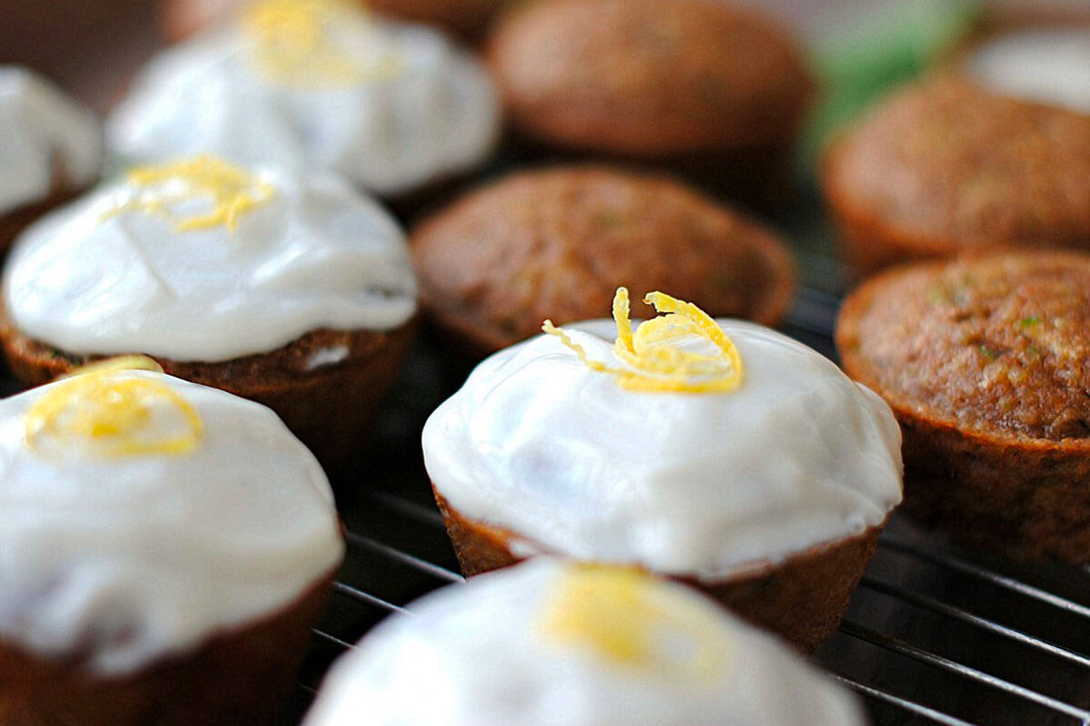 Zucchini Cupcakes with Greek Yogurt Frosting