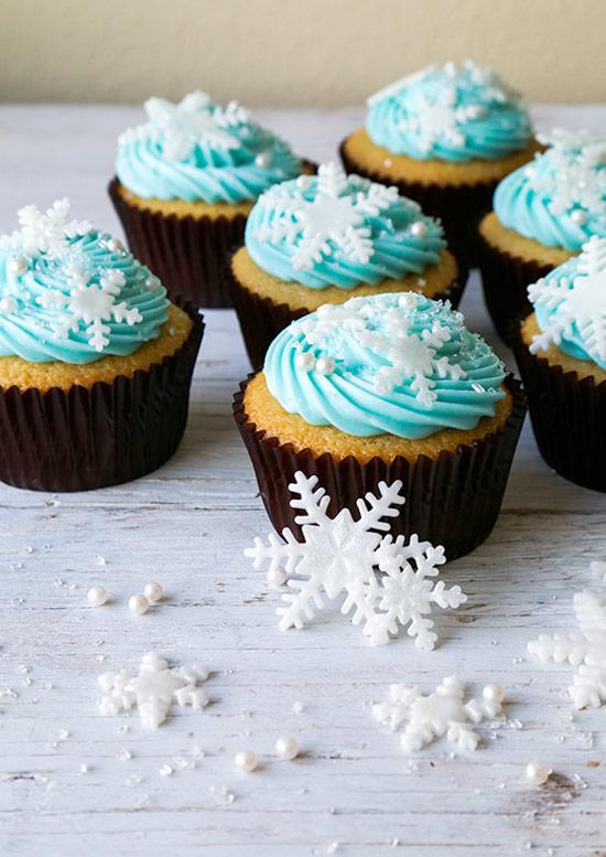 Vanilla Snowflake Cupcakes, Cupcakes Recipes