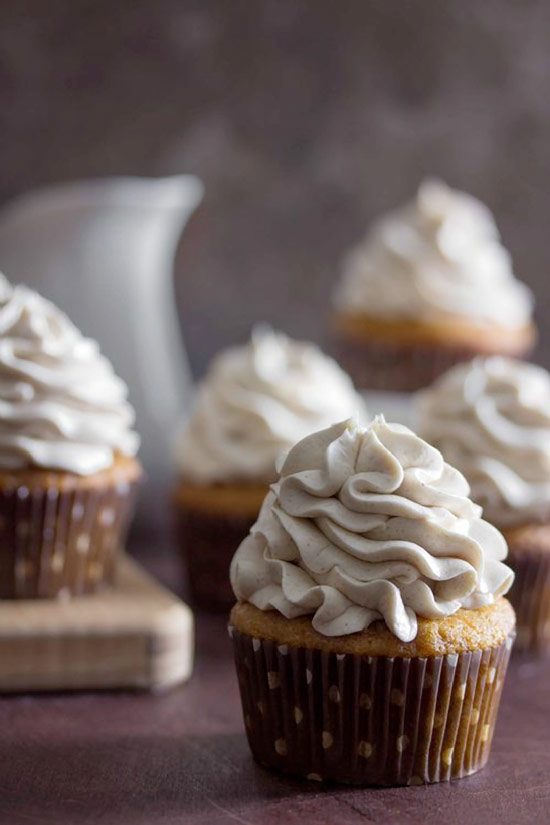 Sweet Potato Cupcakes with Maple Marshmallow Frosting recipe