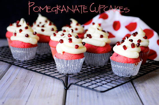 Pomegranate Cupcakes Recipe