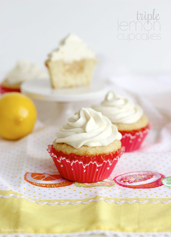 Triple Lemon Cupcakes Recipe