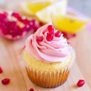 Lemon Pomegranate Cupcakes
