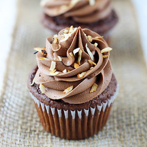 Chocolate Coconut Cupcakes