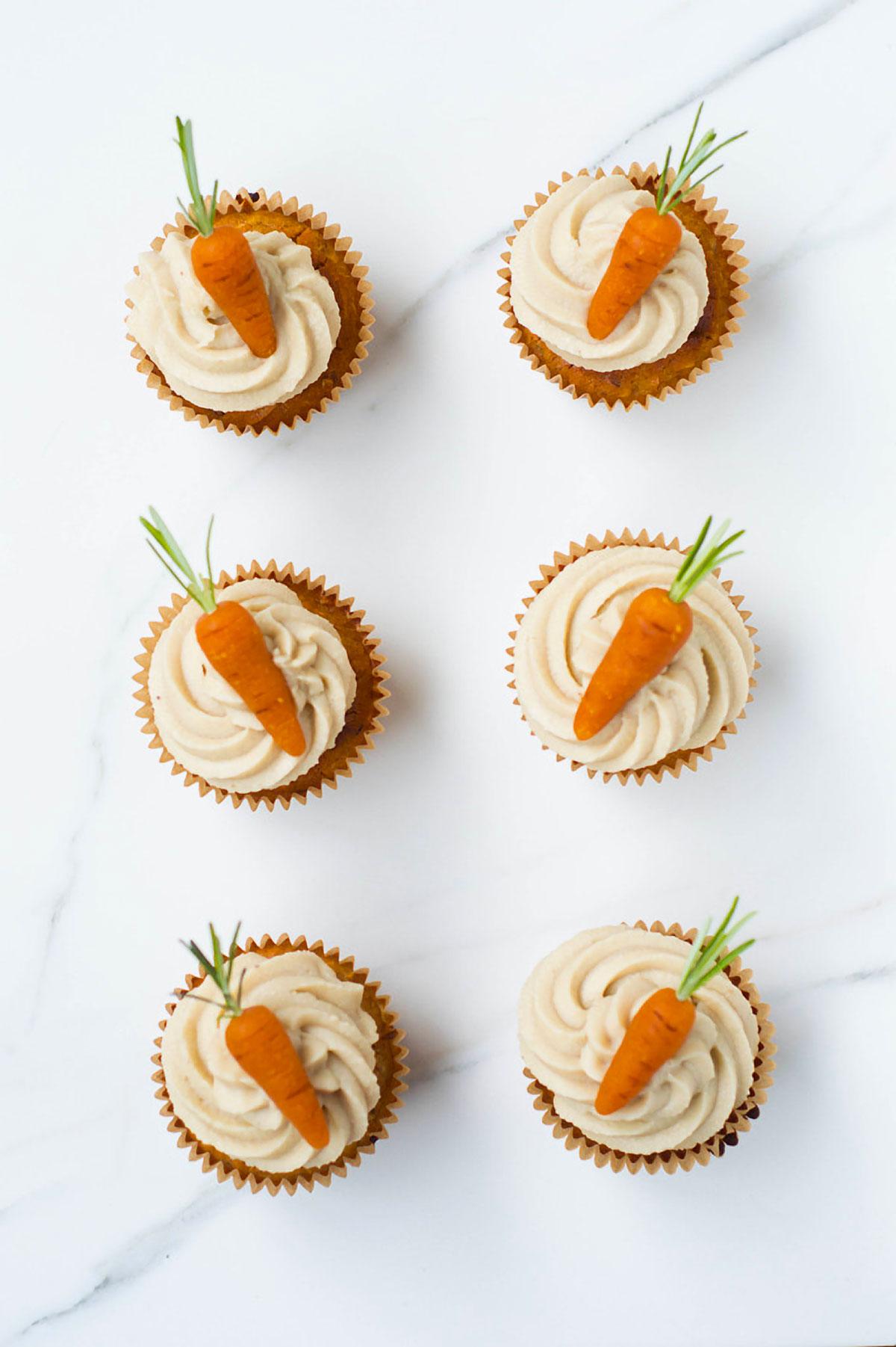 Carrot Cake Cupcakes, Vegan, Gluten-free