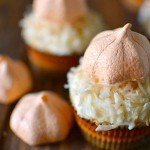 Pumpkin Meringue Cupcakes, recipe, baking, halloween