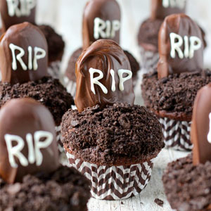 tombstone, halloween, chocolate, cupcakes, recipe, baking,blog, daily