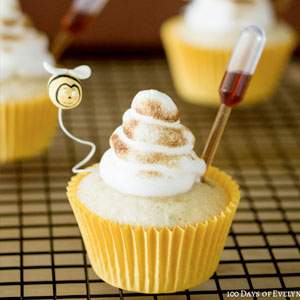 Camomile Honey Cupcakes, recipe, baking