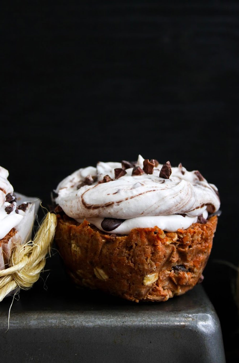 Carrot Cake Cupcakes with Coconut Cream & Chocolate