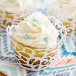 Vanilla Almond Cupcakes, almond cake, almond cupcakes, cake, cupcakes, vanilla almond cake, vanilla cupcakes, baking, recipe, bridal shower, white frosting