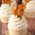 Baileys Macadamia Brittle Cupcakes, recipe, baking, baileys, brittle, buttercream, caramel, cupcake, dessert, food, macadamia