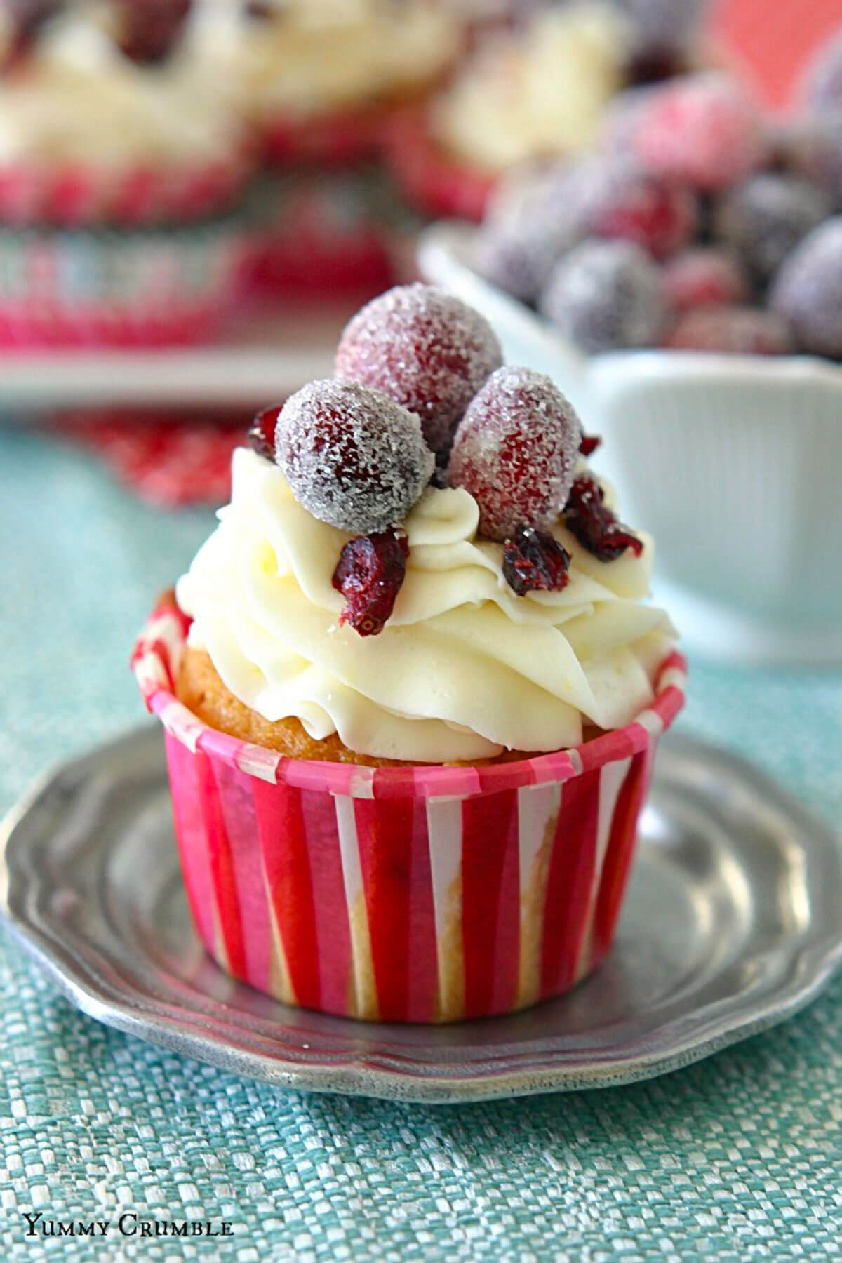 Cranberry Bliss Bar Cupcakes