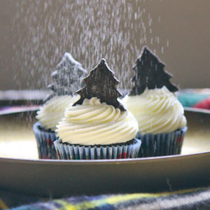Chocolate Buttermilk Cupcakes with Peppermint, recipe, baking