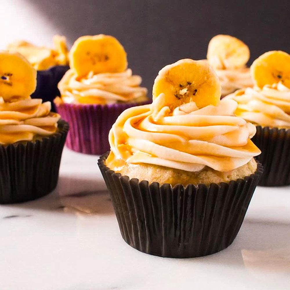 Roasted Banana Manhattan Cupcakes