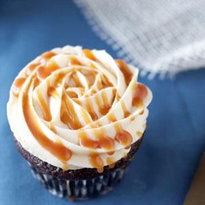 chocolate, cupcake, classic, salted caramel, frosting, sauce, buttercream, recipe, baking, dessert, food