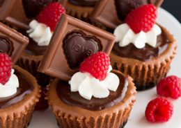 Mini Triple Chocolate Cheesecakes