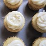 mini, vanilla, cupcakes, recipe, dessert, creamcheese, frosting, baking